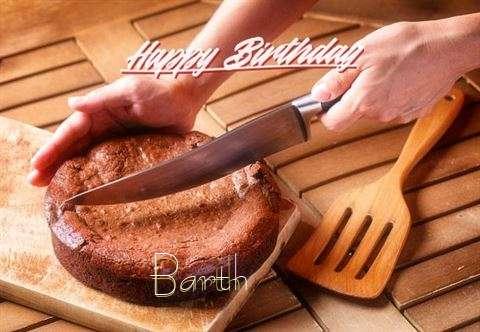 Happy Birthday Barth Cake Image