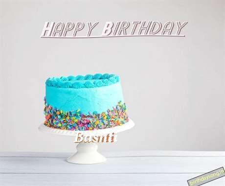 Happy Birthday Basnti Cake Image