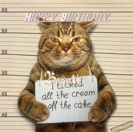 Happy Birthday Cake for Basnti