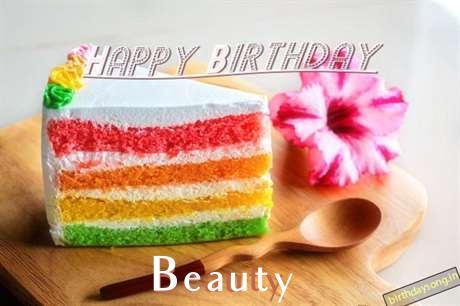 Happy Birthday Beauty Cake Image