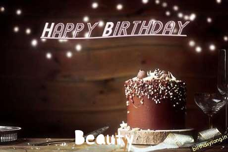 Happy Birthday Cake for Beauty