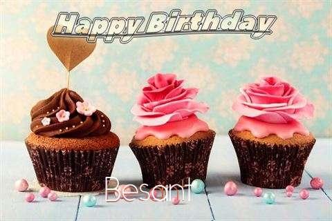 Happy Birthday Besant Cake Image