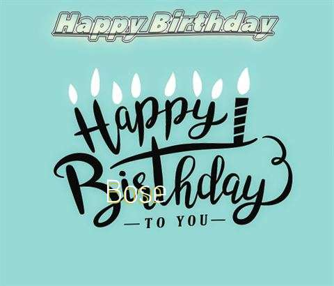 Happy Birthday Bose