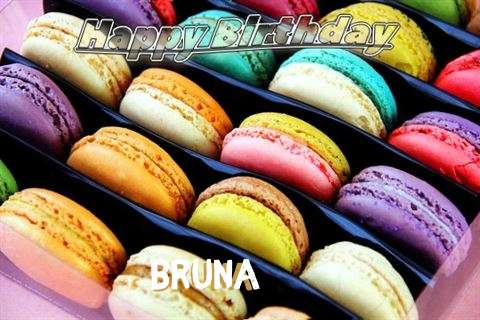 Happy Birthday Bruna Cake Image