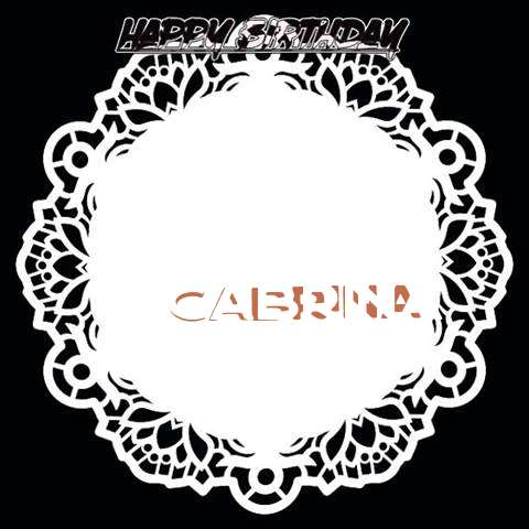 Happy Birthday Cabrina Cake Image