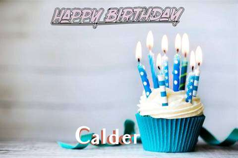 Happy Birthday Calder Cake Image
