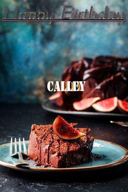 Happy Birthday Calley Cake Image