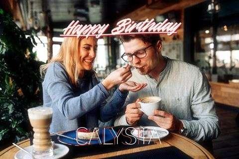 Happy Birthday Calysta Cake Image