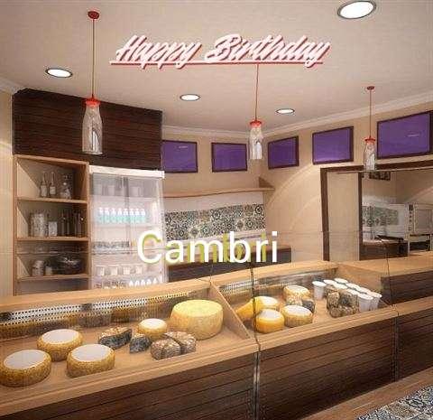 Happy Birthday Cambri Cake Image