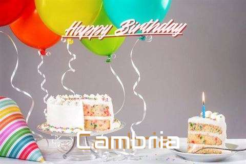 Happy Birthday Cake for Cambria