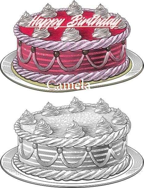 Happy Birthday Camela Cake Image