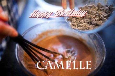 Happy Birthday Camelle Cake Image