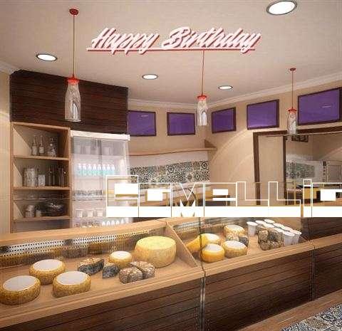 Happy Birthday Camellia Cake Image