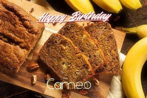 Happy Birthday Cameo Cake Image