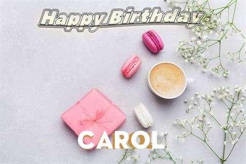 Happy Birthday Carol Cake Image