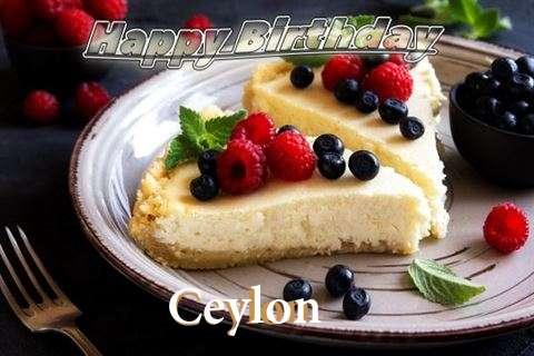 Happy Birthday Wishes for Ceylon