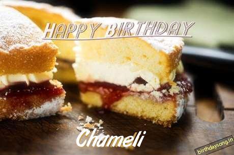 Happy Birthday Chameli Cake Image