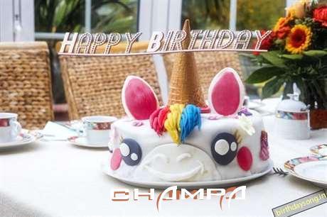 Happy Birthday Cake for Champa