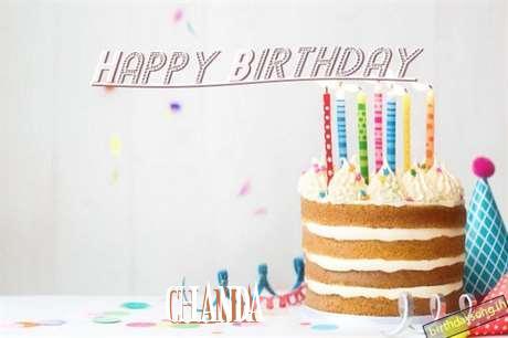 Happy Birthday Chanda Cake Image