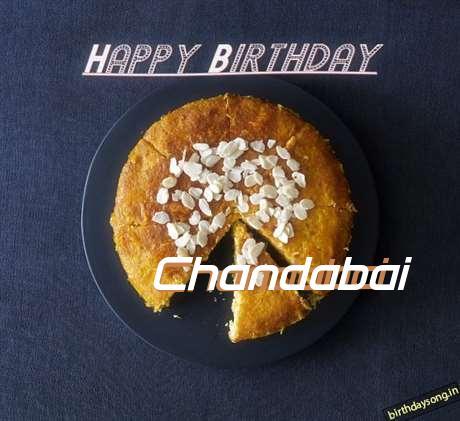 Happy Birthday Chandabai Cake Image