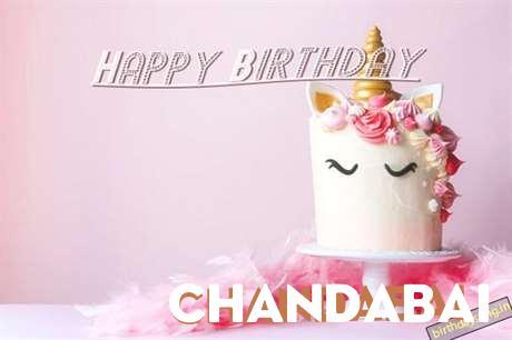 Happy Birthday Cake for Chandabai