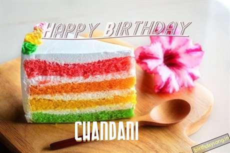 Happy Birthday Chandani Cake Image