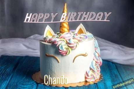 Happy Birthday Cake for Chando