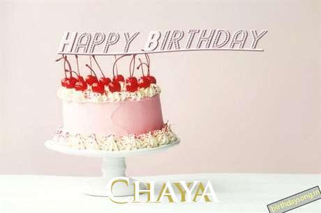 Happy Birthday to You Chaya