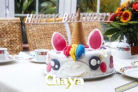 Happy Birthday Cake for Chaya