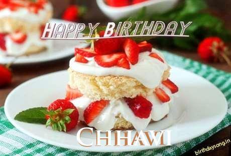 Happy Birthday Chhavi Cake Image