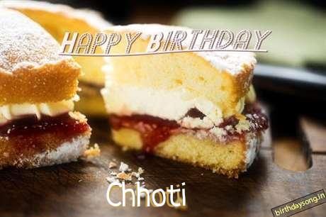 Happy Birthday Chhoti Cake Image