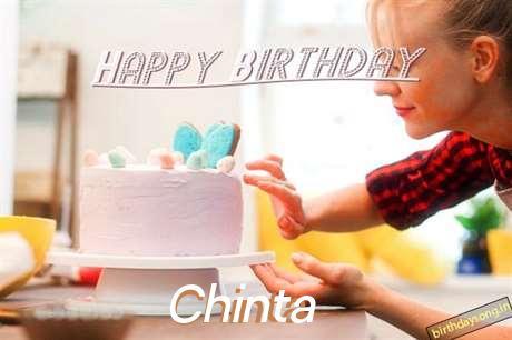 Happy Birthday Chinta Cake Image