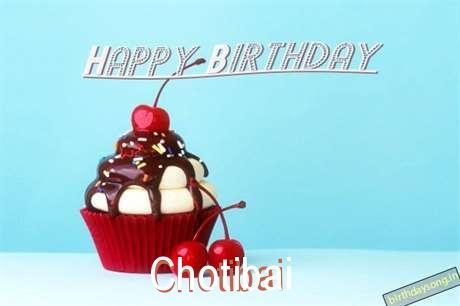 Happy Birthday Chotibai Cake Image