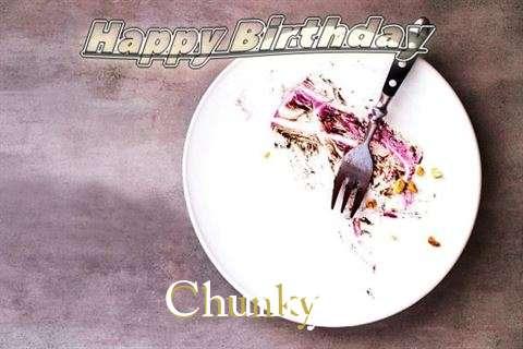 Happy Birthday Chunky Cake Image