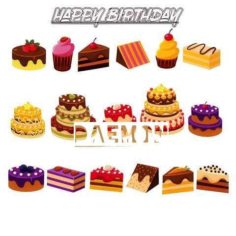 Happy Birthday Daemon Cake Image