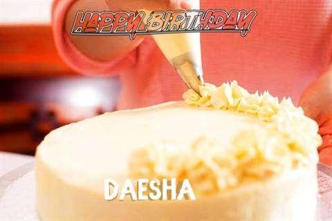 Happy Birthday Wishes for Daesha