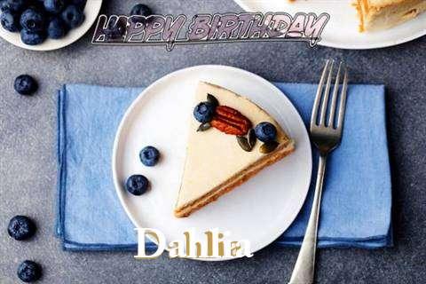 Happy Birthday Dahlia Cake Image