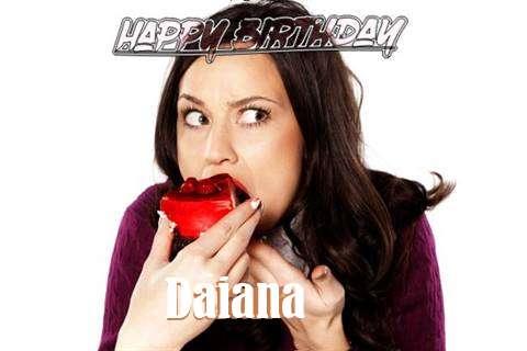 Happy Birthday Wishes for Daiana