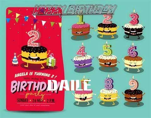 Happy Birthday Daile Cake Image