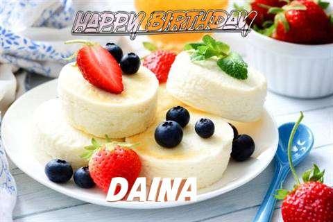Happy Birthday Wishes for Daina