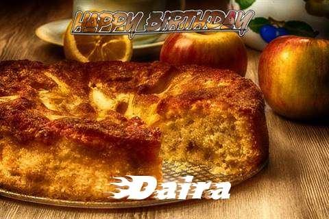 Happy Birthday Wishes for Daira