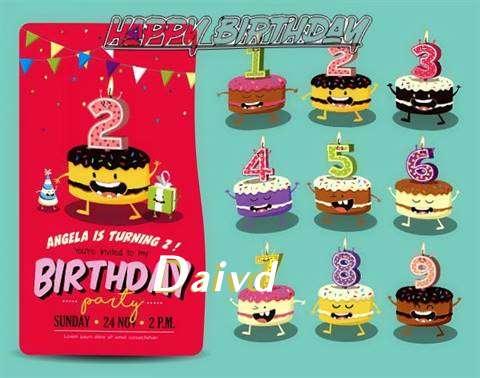 Happy Birthday Daivd Cake Image