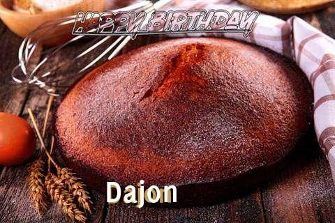 Happy Birthday Dajon Cake Image