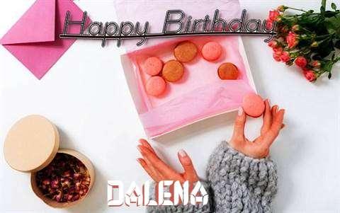 Happy Birthday Dalena Cake Image