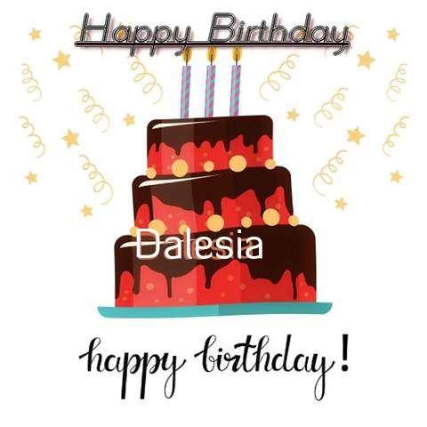 Happy Birthday Cake for Dalesia