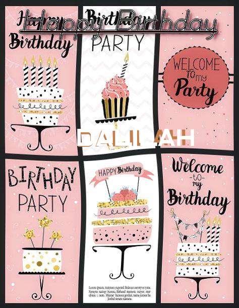 Happy Birthday to You Dalilah