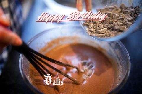Happy Birthday Dallis Cake Image