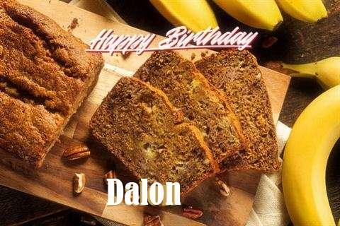 Happy Birthday Dalon Cake Image
