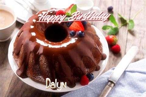 Happy Birthday Dalyn Cake Image