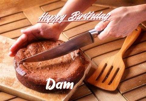Happy Birthday Dam Cake Image